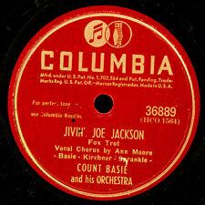 COUNT BASIE & ORCH. Jivin' Joe Jackson / Queer Street  Schellackplatte 78' X3380