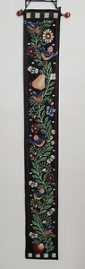 Americana Birds Apples Bees Flowers  Tapestry Wall Hanging USA Made Bell Pull