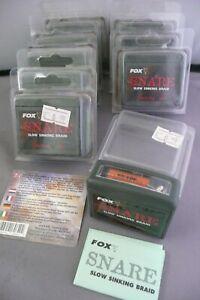 FOX SNARE SLOW SINKING BRAID 25M 8/10lb GRAVEL HIGH ABRASION RESISTANT HOOKLINK
