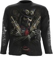 Spiral Direct STEAM PUNK BANDIT Long Sleeve T-shirt Biker/Metal/Skull/Reaper/Tee