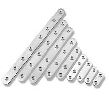 2PCS Stainless Steel Furniture Straight Connector Brace Bracket Flat Fastener AU