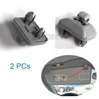2PCS Gray Interior Sun Visor Hook Clip Bracket fit for Audi A1 A3 A4 A5 Q3 Q5
