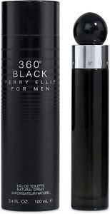PERRY ELLIS 360 BLACK FOR MEN EAU DE TOILETTE SPRAY 3.4 Oz / 100 ml BRAND NEW!!!