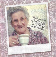 Lot de 2 Serviettes en papier Grand-mère Mamie Oma's Tipps Decoupage Collage