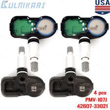 4PCS TIRE SENSOR TPMS 42607-33021 PMV-107J For Toyota Lexus Scion GENUINE OEM US