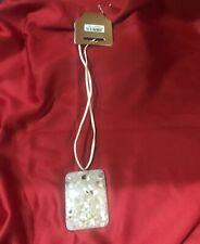 Cream pearl effect square pendant necklace Costume jewellery