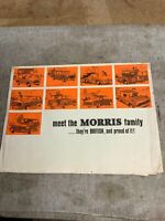 MORRIS CAR RANGE Sales Brochure 1967 MINOR Oxford MINI Traveller 1800 +
