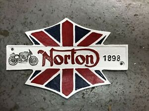 Norton Motorcycle sign - Cast Iron Norton Sign - Isle of Man TT Les Archer manx