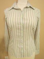 American Eagle Women's Striped L/S Button-up Sheer Dress Shirt Blouse, Size: 4