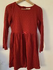 H&M Girls Red Lace Dress Age 14 Years Perfect For Christmas 🎄