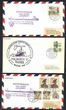 Germany 1960's Collection Of Six Cover Posted On Bard Ships Arctic Supply Ms