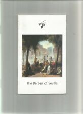 Welsh National Opera Programme from 2005 'The Barber of Seville'
