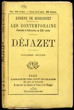Biographie XIX° : DEJAZET, 1869. E. de Mirecourt, les Contemporains. Théatre