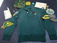 Vintage Lot 50's Canada Ontario Boy Scout Wool Uniform Hat & Badges Test Book
