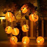 3.1m Halloween Pumpkin 20 LED String Lights Hanging Light Props Home Party Decor