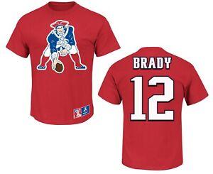 NFL T-Shirt New England Patriots Tom Brady 12 Red ER3 Jersey Football