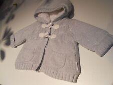 jolie veste laine doublée pour bébé 1 mois ou reborn 50 cm
