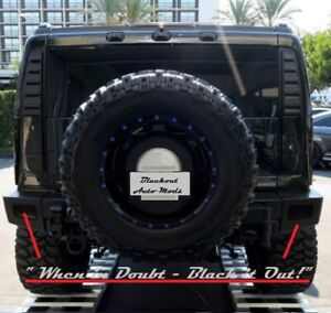 H2 Hummer Rear Bumper Blackout Kit SUT SUV Blackouts
