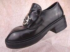 Vtg 90s Muro Cordovan Chunky Platform Club Goth Rave Grunge Pump Shoes Uk 6 Us 8
