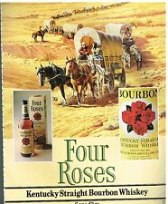 Publicité Advertising 1982 Bourbon Whisky Four Roses