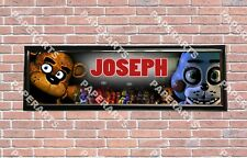 Personalized  Five Nights at Freddy's Name Banner Wall Decor Poster with Frame