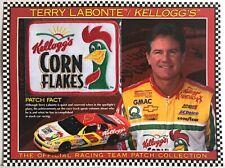 TERRY LABONTE / KELLOGGS CORN FLAKES Willabee Ward NASCAR RACING TEAM PATCH Card