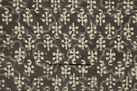 Indian 100% Grey Dabu Cotton Voile Fabric Sewing Hand Block Print Craft By yard