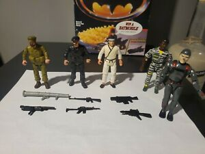 1982 Remco THE BAD GUYS Action Figure & Accessory Lot Sgt Rock Karate + Lanard