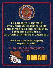 US Marine Corps Warning Sign  SN 003