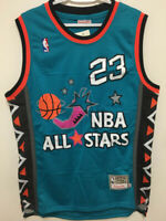 Michael Jordan #23 All Star 1996 Men's Color Teal Throwback Sewn Jersey