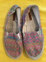 ROXY Women's Iris Slip on Multi Colored Loafer Shoes Size 9 Espadrilles Flats