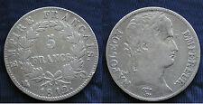 MONETA COIN MONNAIE NAPOLEON EMPEREUR 5 FRANCS 1812 (Q) ARGENTO SILVER SILBER