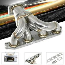 Bottom-Mount SS Chrome T25 Flange Turbo Manifold For 85-91 Corolla 1.6L 4A-FE