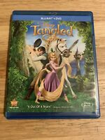 Tangled (Blu-ray/DVD, 2011, 2-Disc Set) Authentic Disney US Release