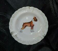 Boxer Dog Design Vintage Ceramic Ashtray / Trinket tray - MUST L@@K!!