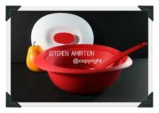 Brand New TUPPERWARE Essentials 1.8 L Deep Server Bowl W/Ladle Chili Soup Rice