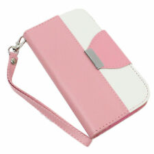Apple iPhone 5 5s Case Cover Protective Mix Match Wallet Leather Case PINK