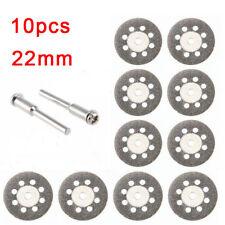 10x Mini Diamond Cutting Discs Wheel Blades Set Drill Bit for Dremel Rotary Tool