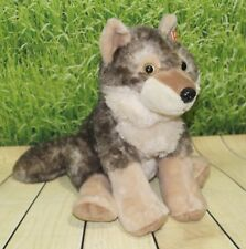 "Wild Republic WOLF 12"" Sitting Plush Cuddlekins Stuffed Animal Toy NEW"