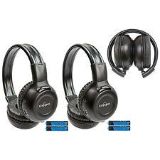 2 New Foldable DVD Headphones Headset For Grand Caravan Town Country Van IR-609B