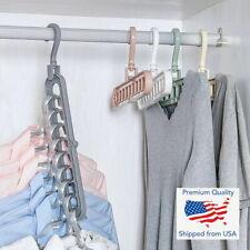 3D Folding Hanger 9 Hole Rotating Magic Closet Organizer Space Saver Saving Room