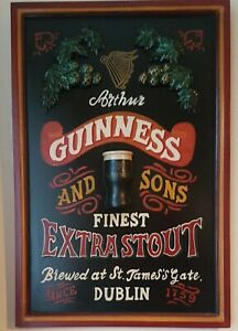 Vintage? Arthur GUINNESS and SONS Finest Extra Stout Advertising Sign