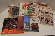 Vintage  NFL Cleveland Browns Programs Playoffs, Media Guides Yearbook Calendar