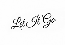 Let it go Wall Stickers Wall Quotes Living Room Wall Stickers UK 33as