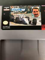 Newman Haas IndyCar Featuring Nigel Mansell for Super Nintendo SNES Working