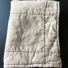 Restoration Hardware Linen Sham Natural Beige Quilted Squares Standard Size