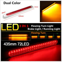 72 LED Car Truck Indicator Tail Brake Light Sequential Flowing Signal Lamp Bar