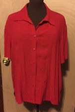 Sag Harbor Women's Blouse Red Size Large Good Condition