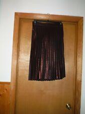 Pull On Knee length Skirt size MD LC Lauren Conrad Coper Red Metallic Elastic wa