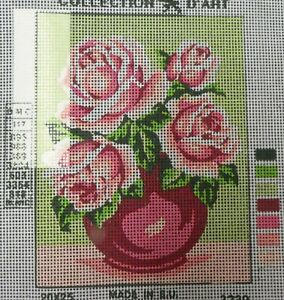 PINK ROSES IN PINK VASE - NEW TAPESTRY to Stitch - Collection D'Art